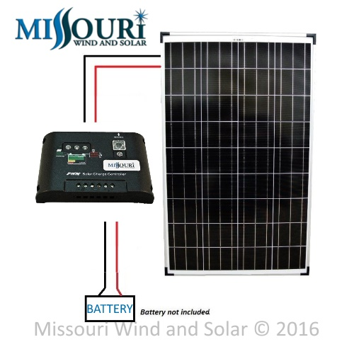 PWM Solar Panel Wiring Diagram