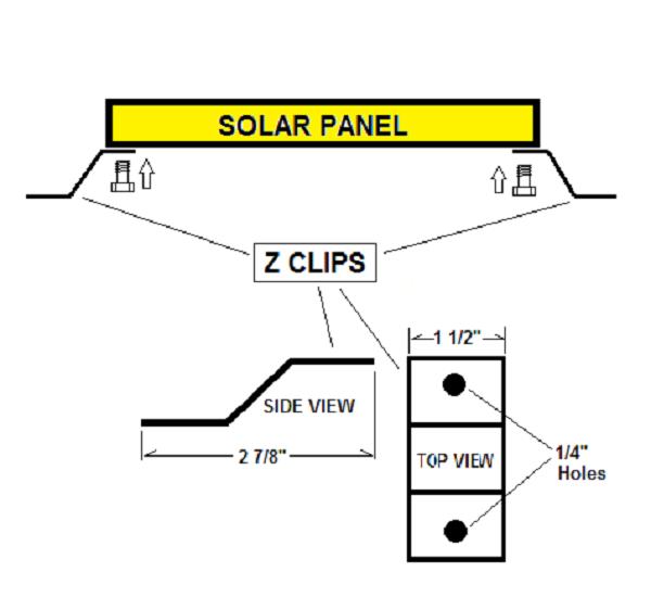 Missouri Wind Solar Panel Z Clips Diagram
