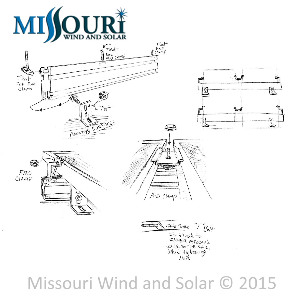UniRac Solar Mount Components and Assembly Diagram